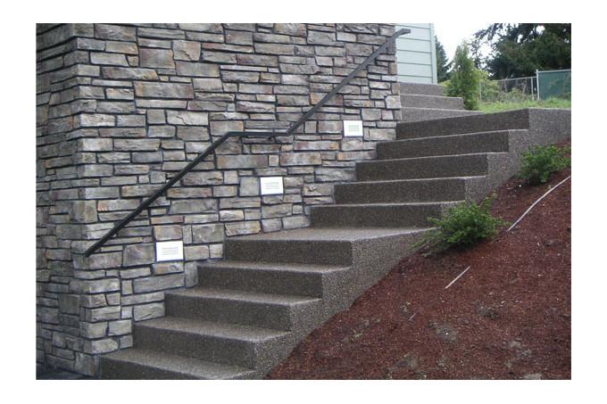 Creation Et Renovation D Un Escalier Paysager En Beton