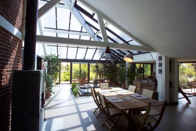 La véranda en aluminium est idéale pour un rendu design et contemporain