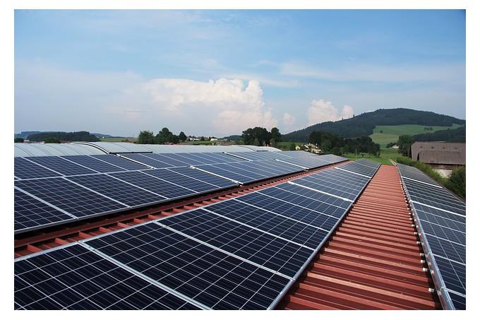 Panneaux solaires photovoltaïques.
