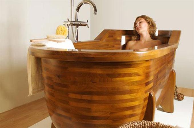 Quel est le prix d\'une baignoire en bois ?